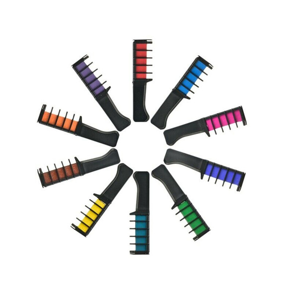 Temporary Hair Pro Mini Chalks Crayons 10 Colors For For Hair Multicolor Co