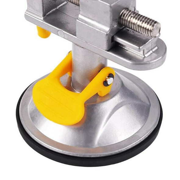 1X(Bench Vise Fixed Frame Sucker Clamp Adjustable Table Vise Roatatable All