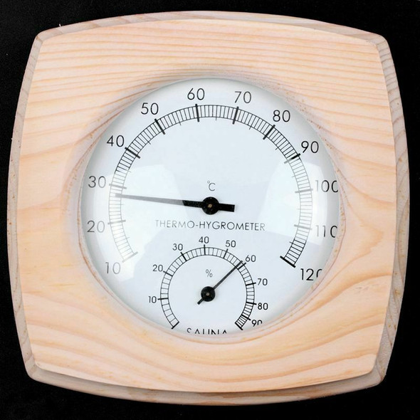 1Pc Wooden Sauna Thermometer Hygrothermograph Thermometer Hygrometer Humidi