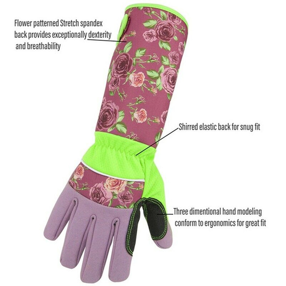Long Sleeve Gardening Gloves Pruning Thornproof Garden Gloves With Extra Lo