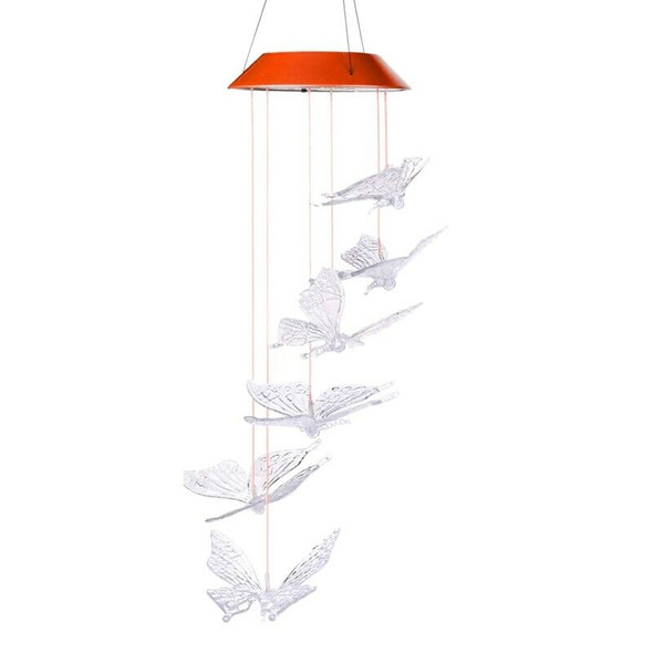 Wind Chime,Solar Lights Chimes,Butterfly Wind Chimes Led/Solar Wind Chime O