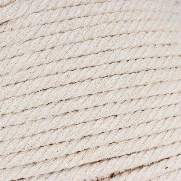 1Pcs Durable 4Mmx100 Meters Natural Beige White Macrame Cotton Twisted Cord