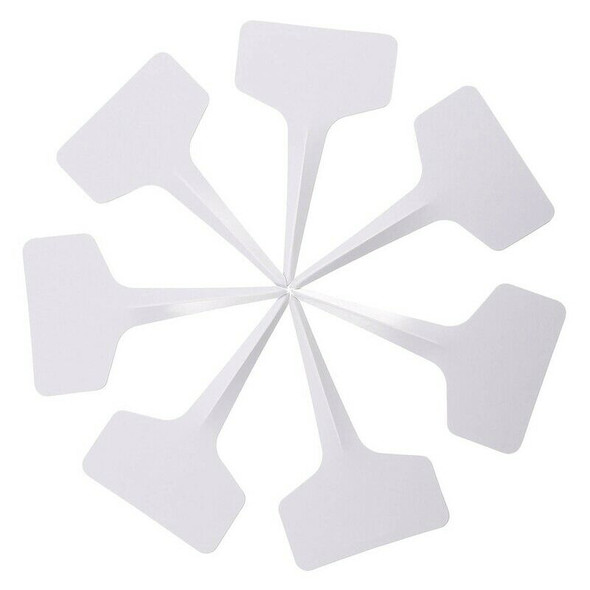 200 Pack 6 x 10 cm Plant T-type Tags Plastic Garden Labels Tags Marker Wate
