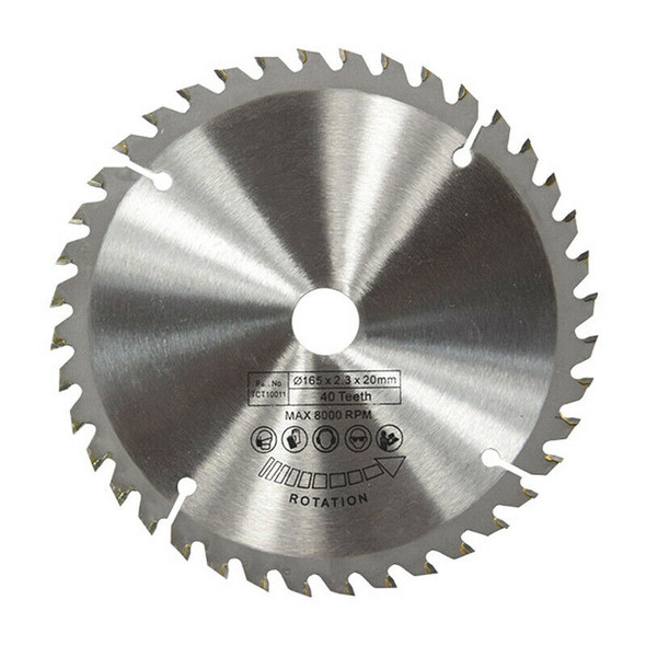 165mm 40T 20mm Bore TCT Circular Saw Blade Disc for Dewalt Makita Ryobi Bos