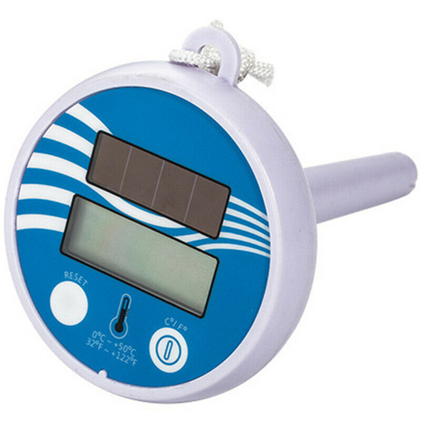 Swimming Pool Floating Thermometer Bathing Solar Energy Charge Liquid Cryst