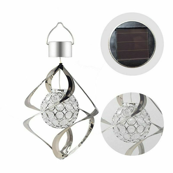 Solar Powered Wind Chimes Light Hanging LED Garden Outdoor Lamp Colour Chan