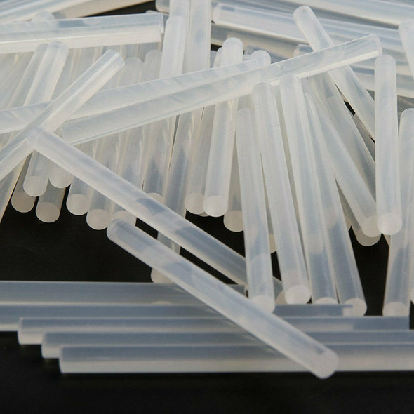 100 x 7mm Clear Hot Melt Glue Sticks Adhesive For Trigger Electic Pack Of 1