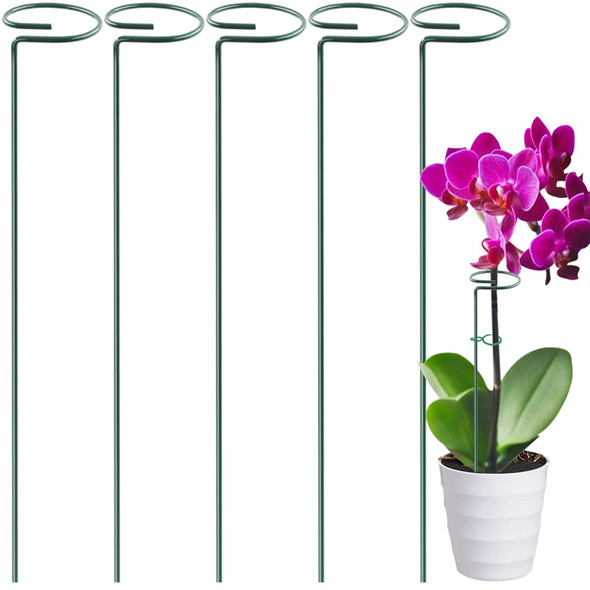 5 Pack Garden Plant Support Stakes Single Stem Support Stake Plant Cage Sup