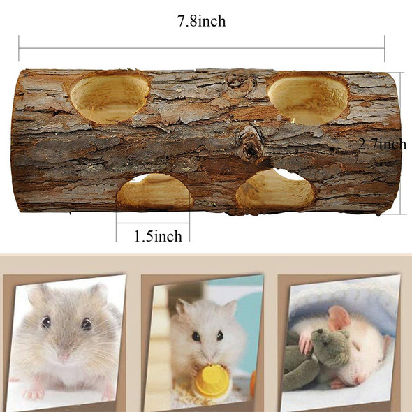 1X(5 Pcs Natural Wooden Playing Chewing Toys For Small Animal Hamster Gerbi