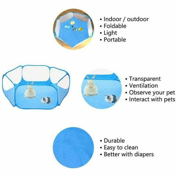 Pig Cage Rabbit Cage Indoor Playpen Perfect Size for Small Animal Pet Play