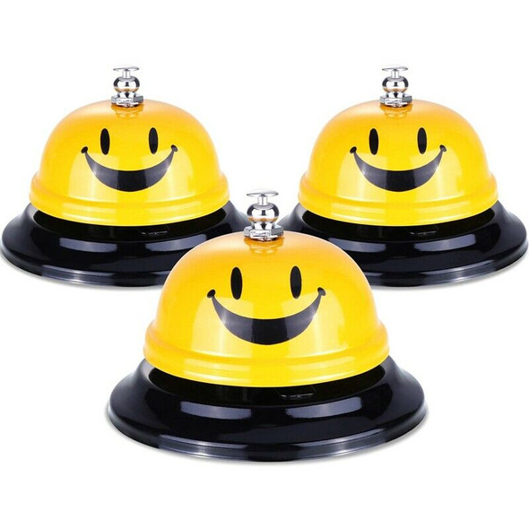 Big Call Bells,Chrome Finish,All-Metal Construction,Desk Bell Service Bell