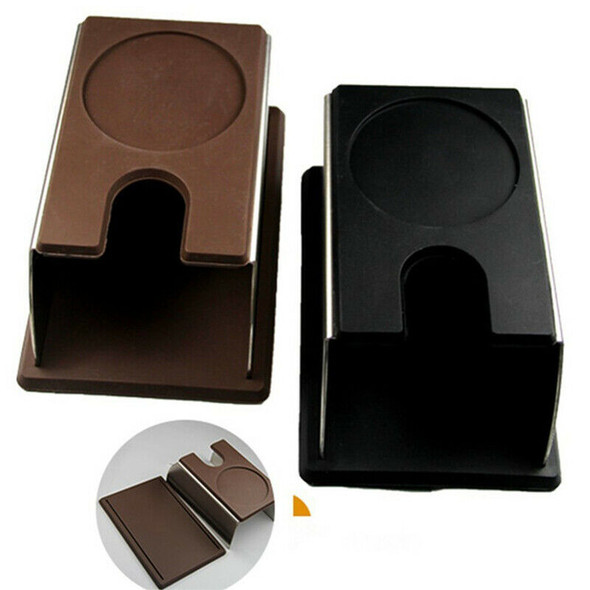 Sturdy Stainless Steel Silicone Espresso Coffee Tamper Stand Barista Tool T