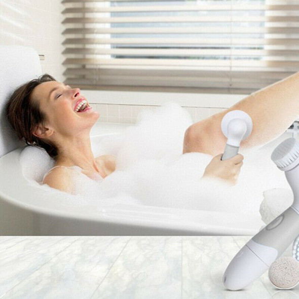 Exfoliating Brush for Body - Bath Spa Massager Kit with 4 Attachments Elect