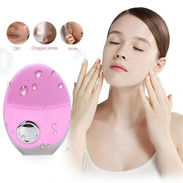 Pink Electric Facial Cleansing Brush Wash Face Cleaning Machine Pore Cleane