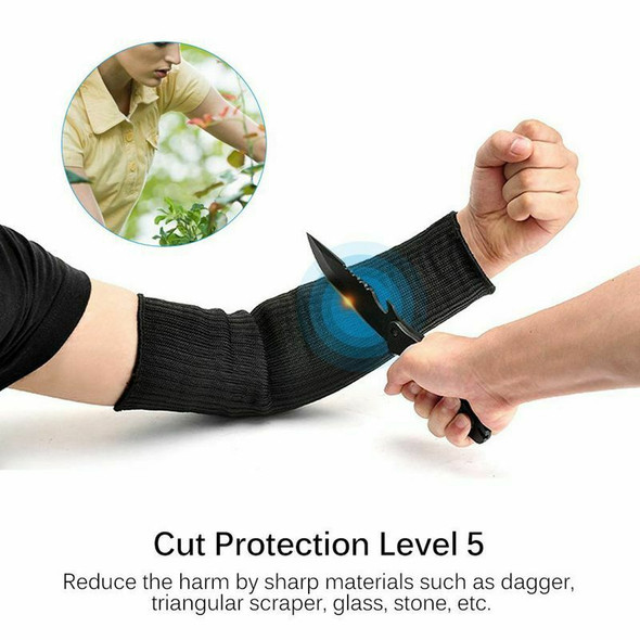 1 pair Arm Protection Sleeve Anti-Cut Steel wire Gardening Butcher Glass