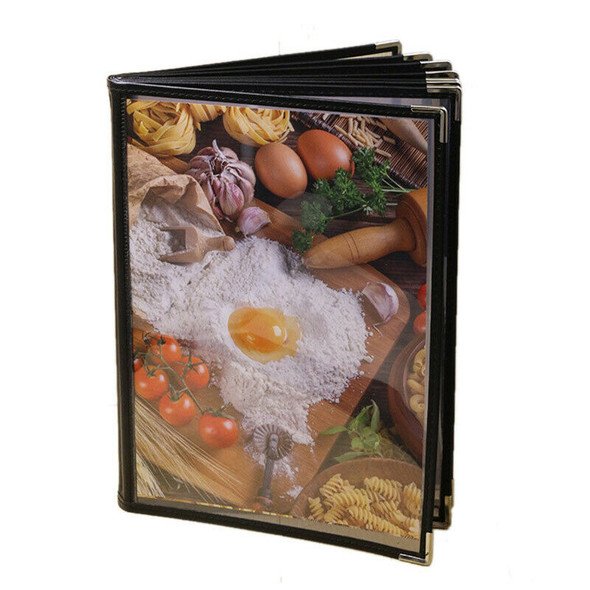 Transparent Restaurant Menu Covers for A4 Size Book Style Cafe Bar 8 Pages