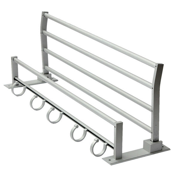 Double Aluminum Wall Mounted Bar Bathroom Holder Towel Rail Storage Rack Sh