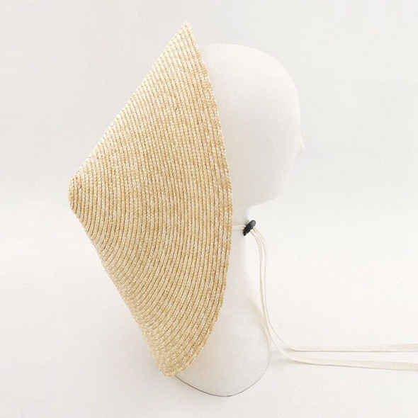 Large Brim Conical Natural Color Bamboo Rain Straw Sun Hat Female Women Fun