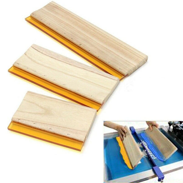 3 Pcs Silk Screen Printing Squeegee Ink Scaper Scratch Board Tools 16cm 24c