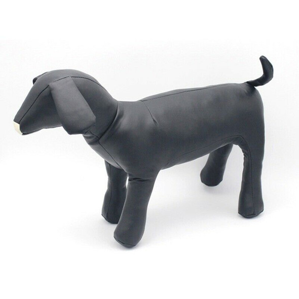 Leather Dog Mannequins Standing Position Dog Models Toys Pet Animal Shop Di