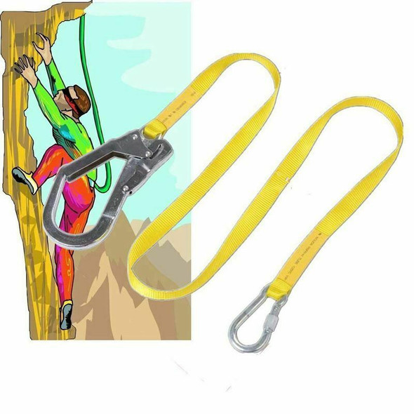 Safety Lanyard, Outdoor Climbing Harness Belt Lanyard Fall Protection Rope