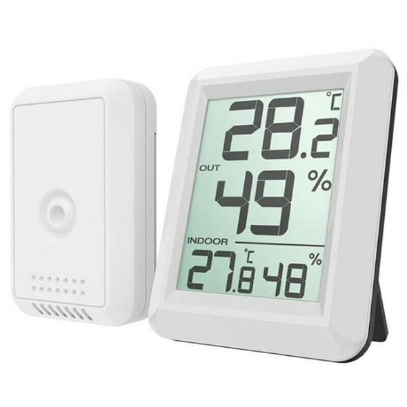 Digital Wireless Hygrometer Lcd Thermometer Indoor Outdoor Electronic Tempe