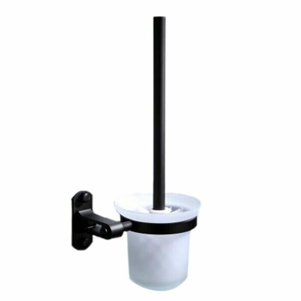 Bathroom Accessories Wall Mounted Black Space Bathroom Toilet Brush Holder