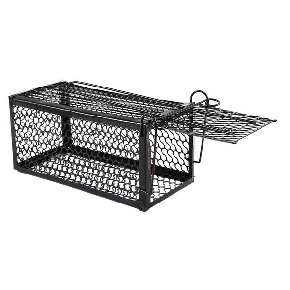 Humane Rat Cage Trap Live Animal Catcher No Poison Pest Control Indoor+Outd