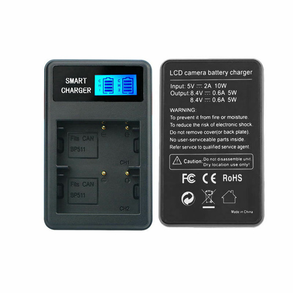 1X(Bp-511/511A Usb Lcd Display Dual Port Battery Charger For Eos 1000D,Eos