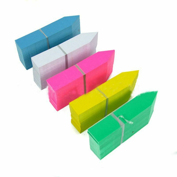 500 Pcs 5 Colors 2X10CM Plastic Waterproof Garden Plant Tags Nursery Garden