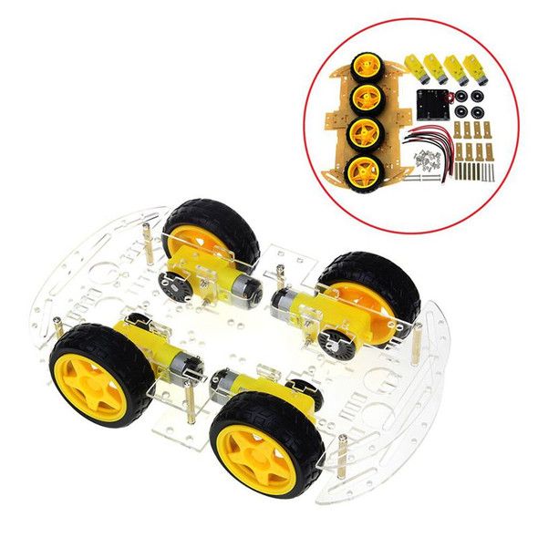 Smart Car Kit 4WD Smart Robot Car Chassis Kits with Speed Encoder and Batte
