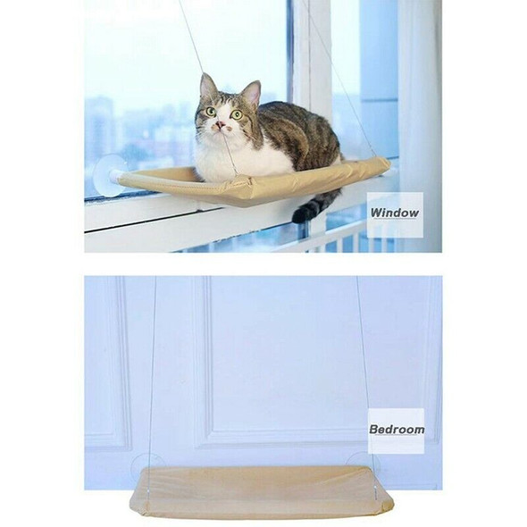 Cat Hammock, Cat Window Perch Sunny Seat with Suction Cups Cat Bed Saving S