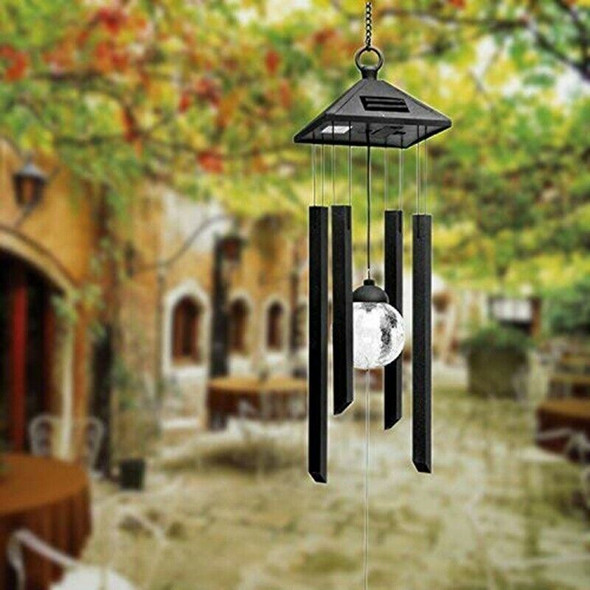 Wind Chime Changing Color Solar Lights Garden Outdoor Window Decoration Cra