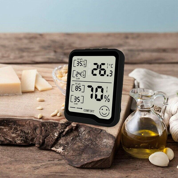 Digital Hygrometer & Thermometer with Humidity & Temperature Gauge with LCD
