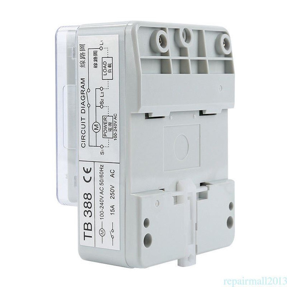 New TB-388 Rectangle 15 minutes / 96 times Switch Timer Without Battery