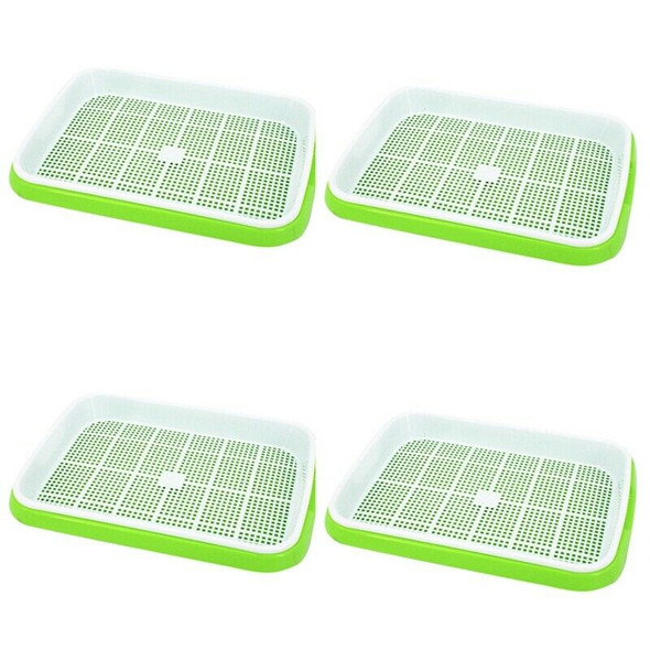 4Pc/Set Plant Flower Germination Tray Box Double-Layer Seed Sprouter Nurser