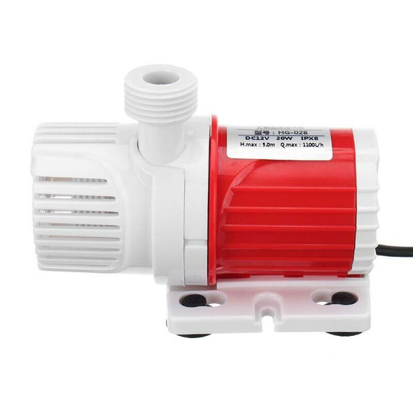 1X(20W 12V Dc 1100L/H Submersible Water Pump Marine Controllable Adjustable