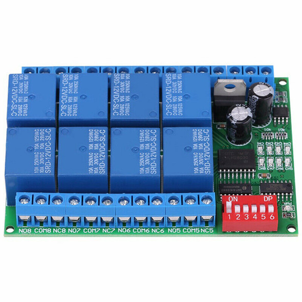 DC 12V 8 Channel RS485 Relay Command Programmable Control Module Board Asso