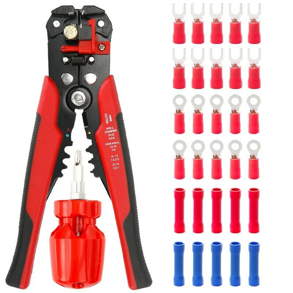Multi Tools Pliers Stripper Cutter Cable Wire Capability 0.25-6Mm2 HS-D1 YE