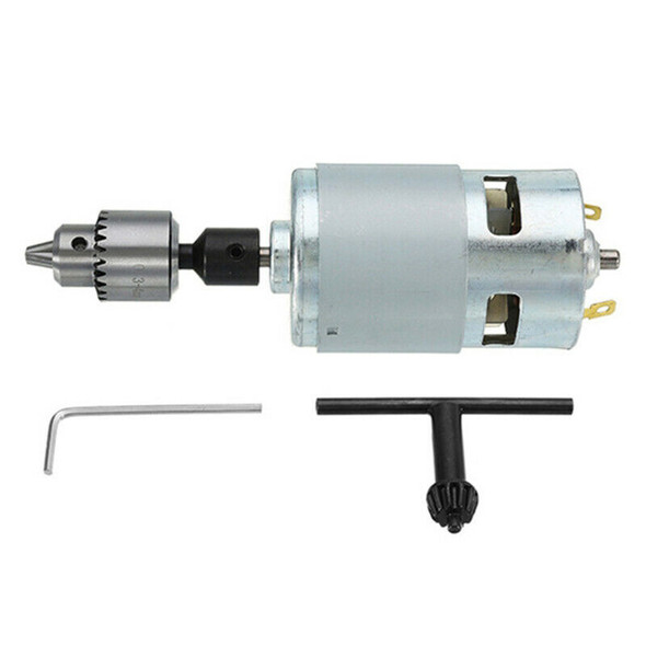 1X(Dc 12-24V 775 Motor Electric Drill With Drill Chuck Dc Motor For Polishi