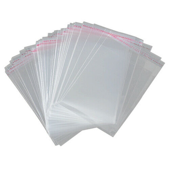 100x A3 package Bag 45x32cm Clear Resealable Plastic Self Seal Adhesive