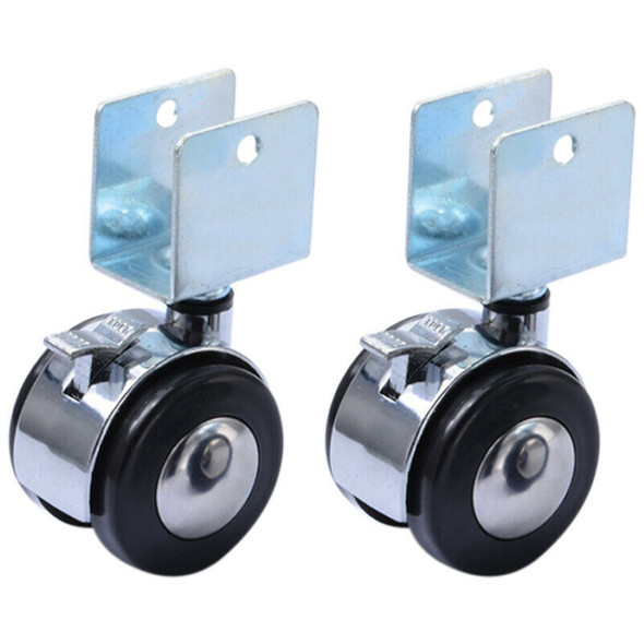 4Pcs 2 Inch Crib Casters Cabinet Clamp with Brake Wheels Nylon Furniture Ha