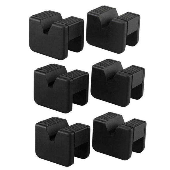6 Pack Jack Pad Adapter For Jack Stand 2-3 Ton Universal Rubber Slotted Fra