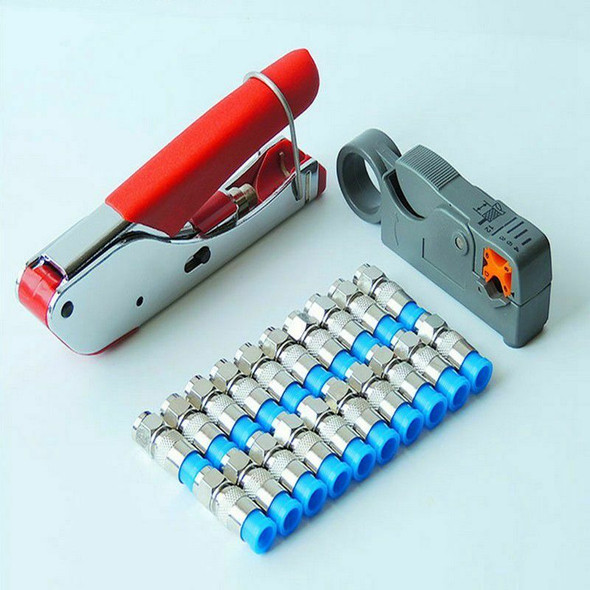 New Multitool Wire Stripping Squeezing Pliers Coaxial Cable Cold Press Clam