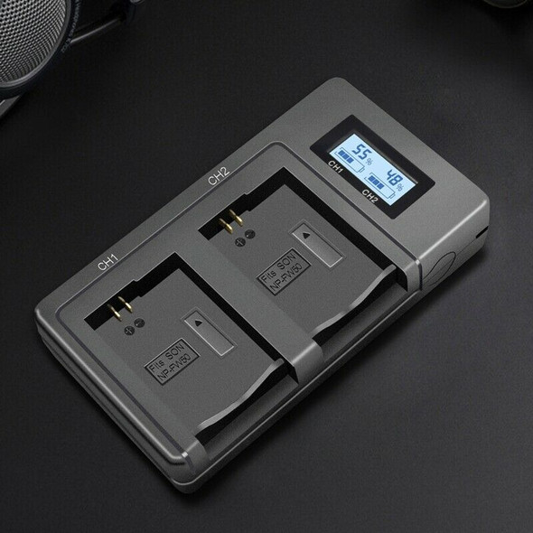 Np-Fw50 Camera Battery Charger Npfw50 Fw50 Lcd Usb Dual Charger For A6000 5