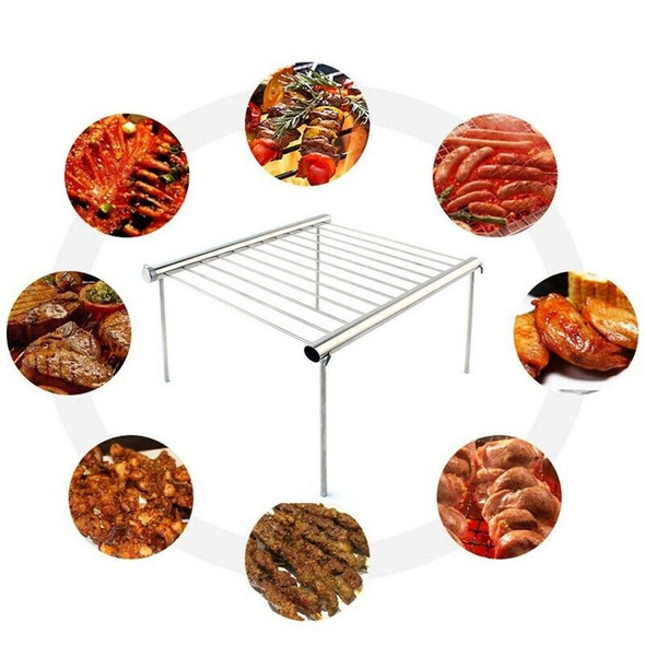 Outdoor Stainless Steel Barbecue Bracket Camping Bbq Multi-Tools Picnic Fol