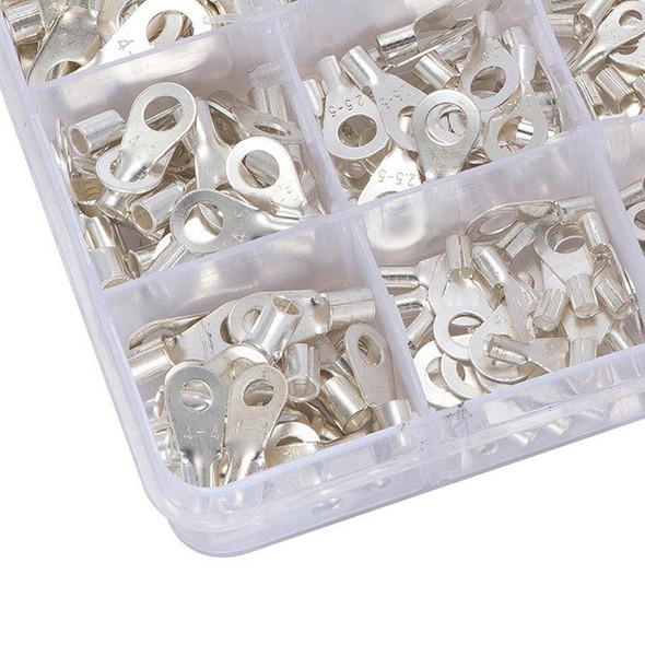 375 Pcs 15 in 1 Non-Insulated Ring Fork U-type Terminals Tin-Plated Copper