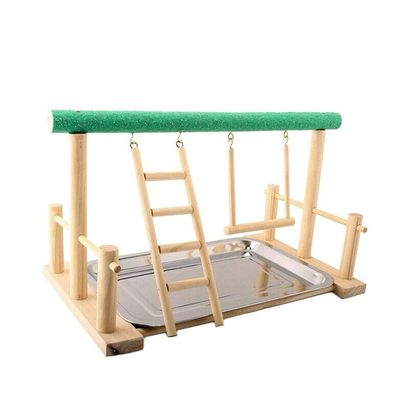 Bird Playground Parrots Wood Perch Playstand Gym Stand Playpen Ladder with