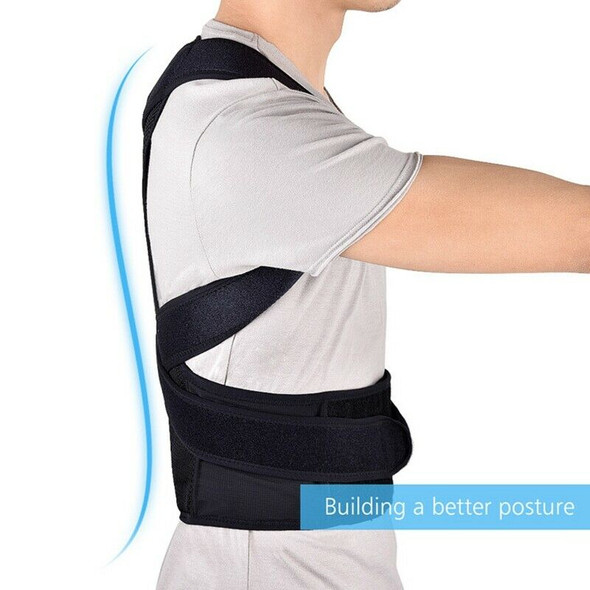 Hailicare Back Posture Corrector Shoulder Lumbar Brace Spine Support Belt A