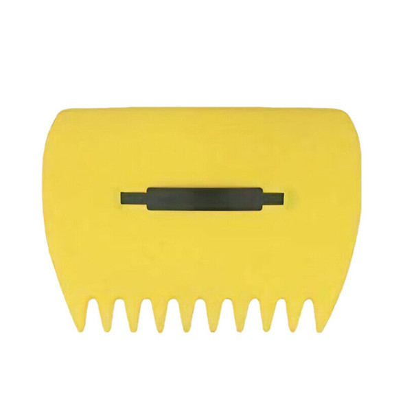 2Pcs Yellow Large Garden and Yard Leaf Scoops,Plastic Scoop Grass,Hand Leaf